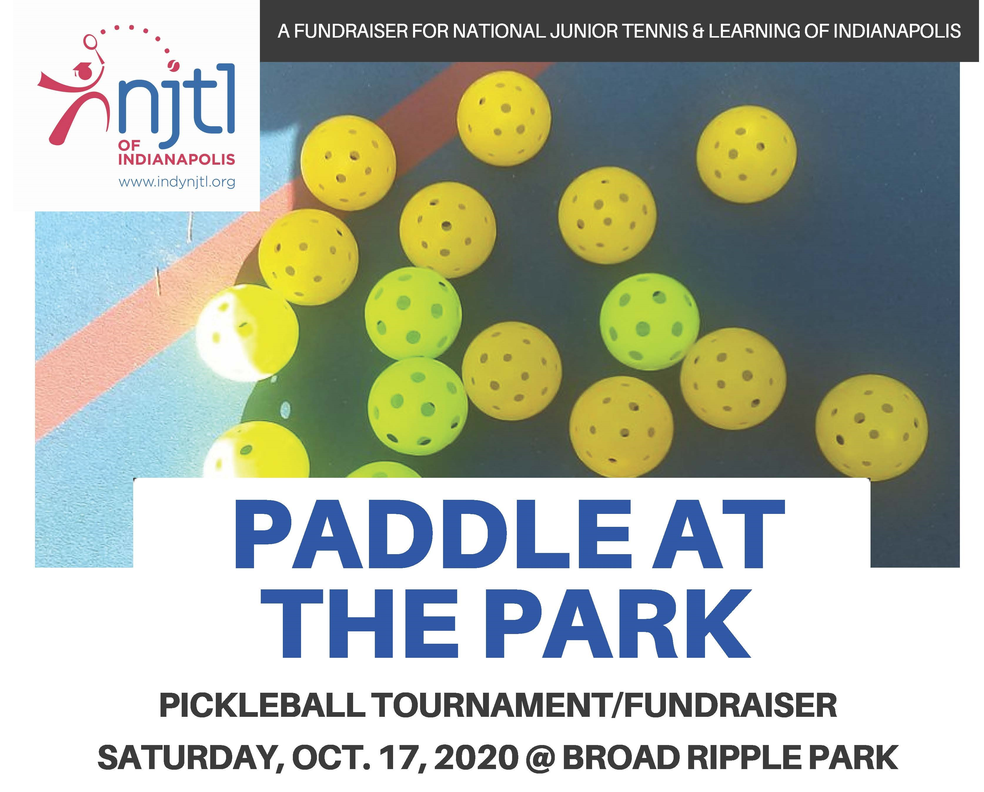 Paddle at the Park Tournament/Fundraiser